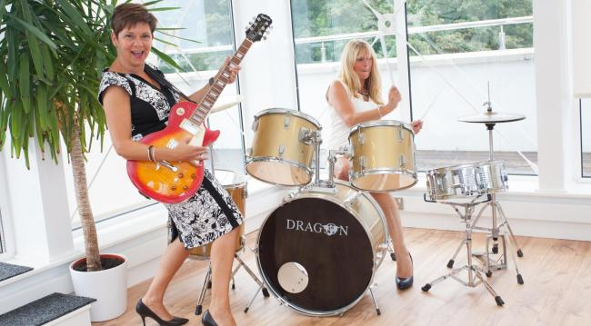 GIGGING: Jobshop UK directors Tracey Wood (left) and Frances Miles