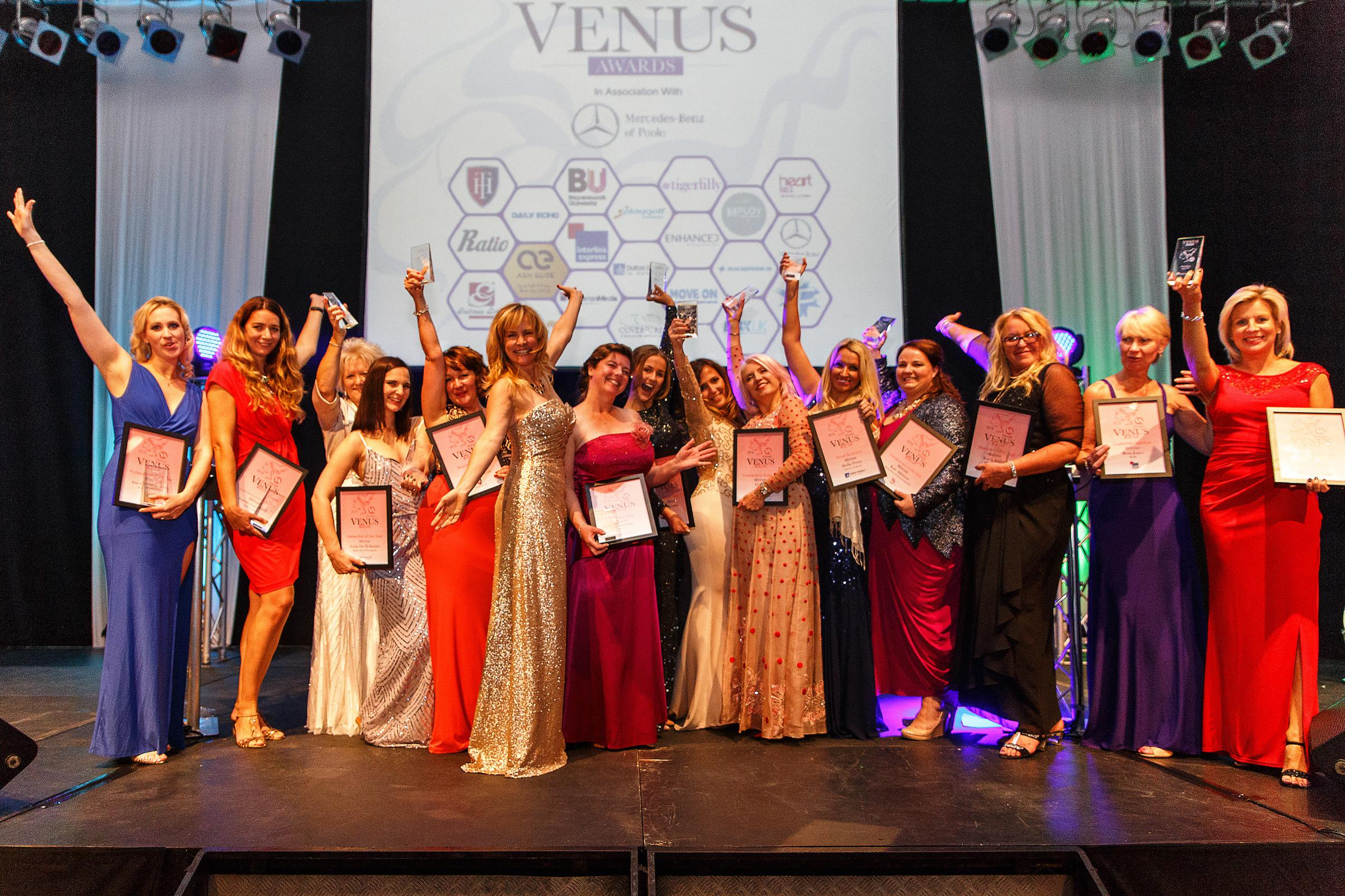 All of the winners at this year's Dorset Venus Awards. Picture by Jennie Franklin