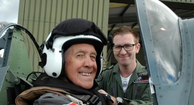 Former RAF pilot finally gets to fly a Spitfire at the age of 81
