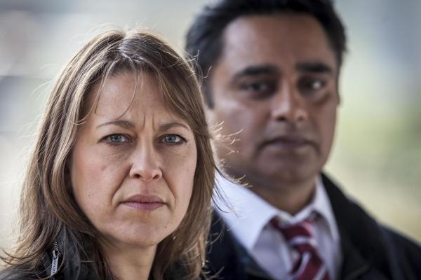Bournemouth Echo: Nicola Walker and Sanjeev Bhaskar in Unforgotten