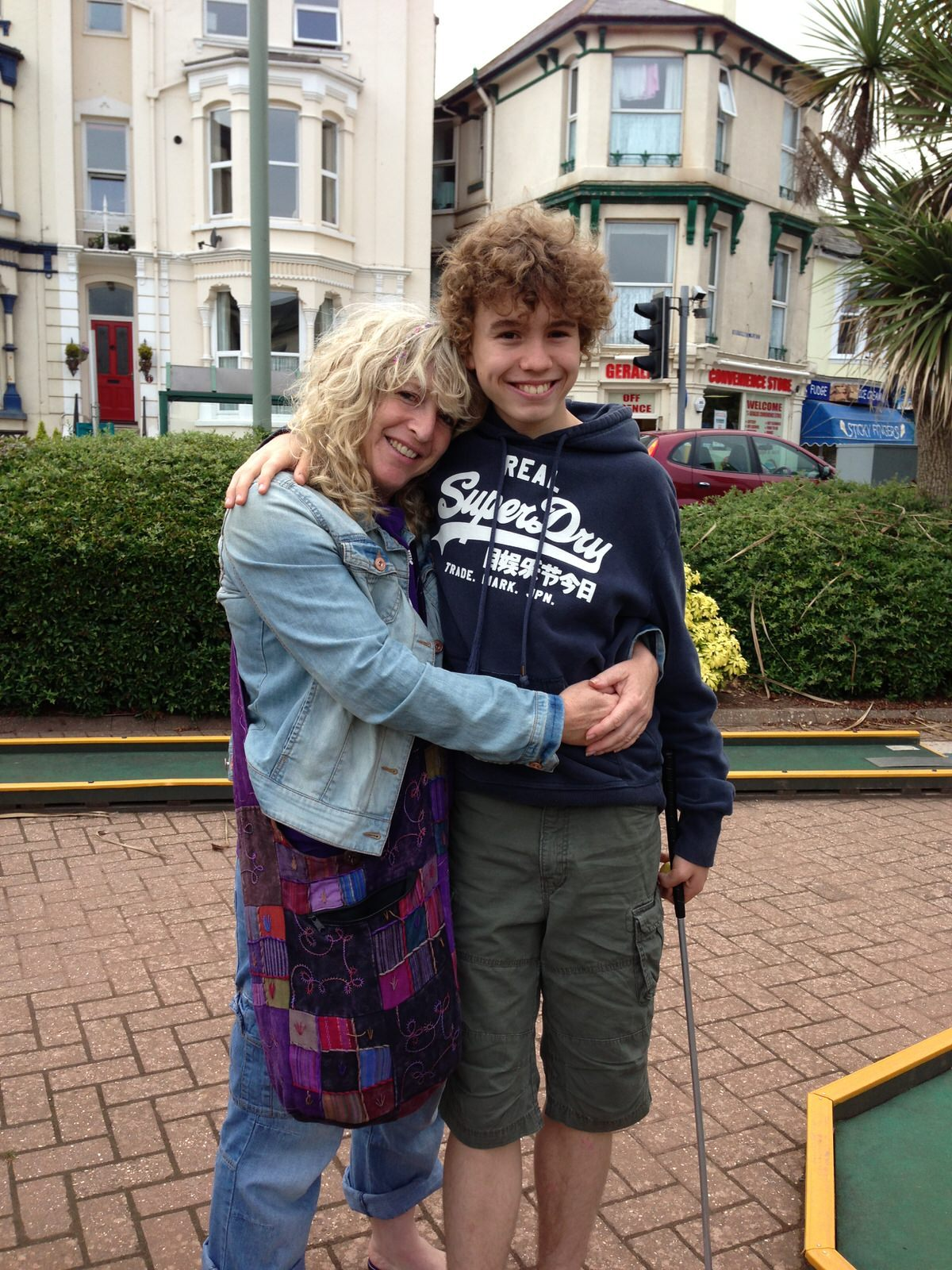 Jane Atkinson with her son George