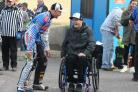 IN THE PITS: Darcy Ward shares a joke with Bjarne Pedersen