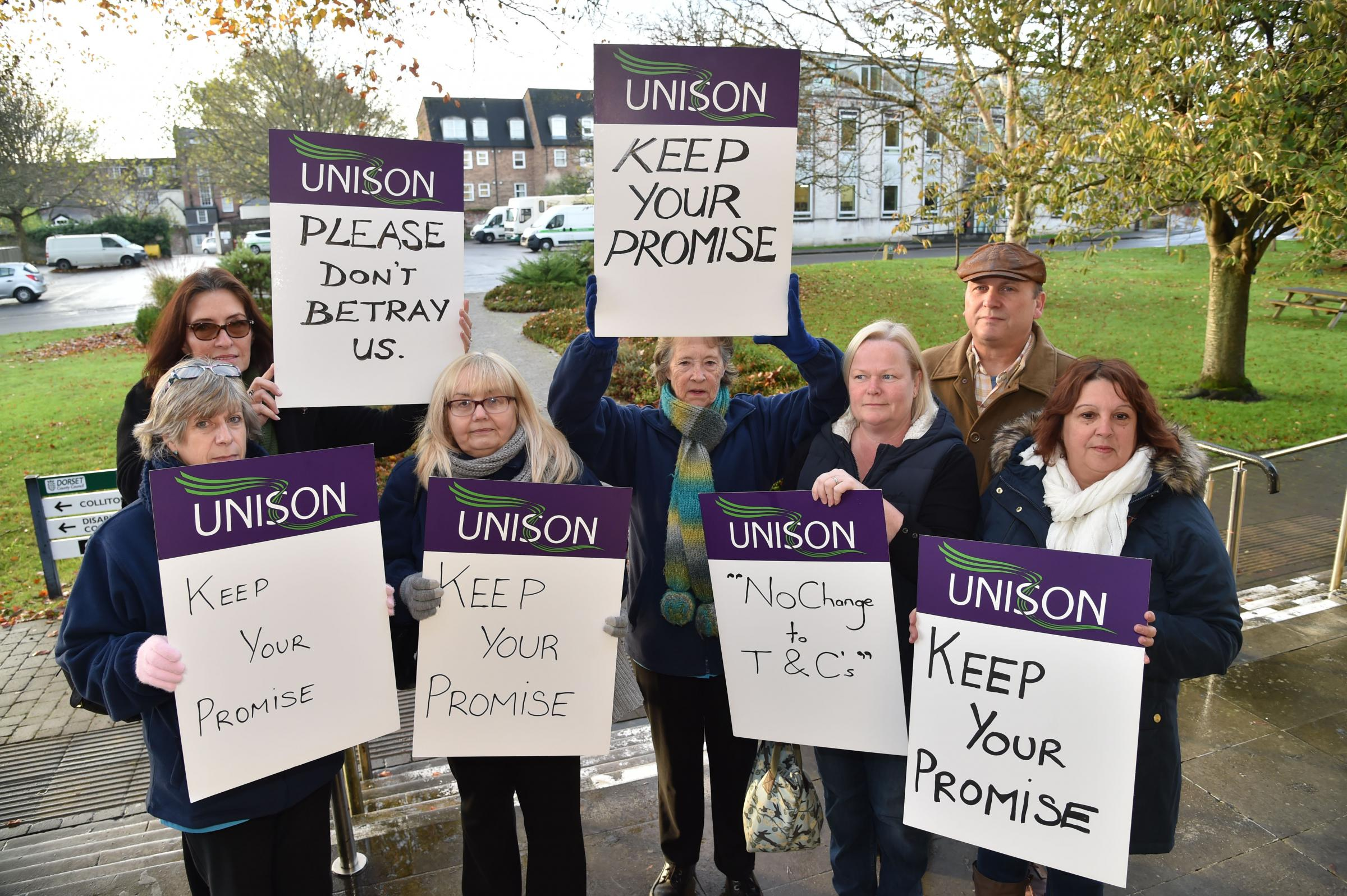 Image result for Care workers sacked because they won't agree to pay cut in council company's 'Project Fear', union claims