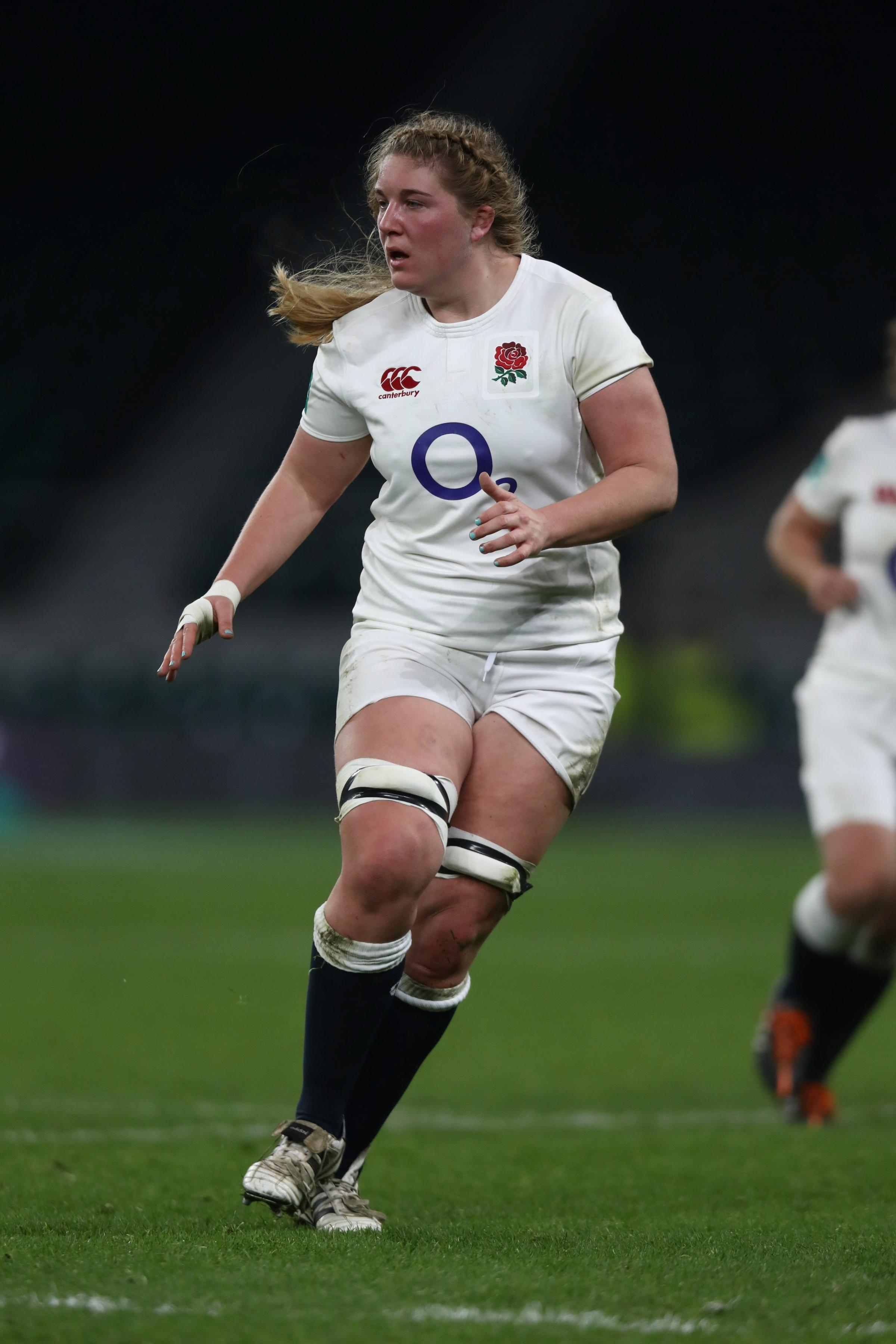 EX-ELLINGHAM & RINGWOOD YOUNGSTER: Poppy Cleall in action for England