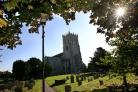 Christchurch Priory on a sunny autumnal morning..