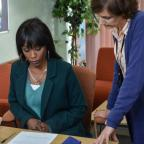 Bournemouth Echo: EastEnders snaps show Denise hovering over adoption forms