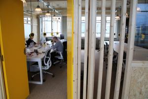 Joshua Winterton of THIS workspace shows off what his company has achieved transforming areas of the Echo building on Richmond Hill into state of the art office spaces. ..
