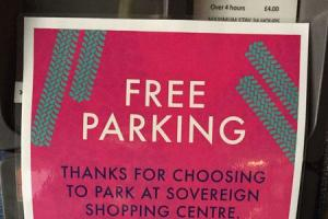 BREAK-IN: The Sovereign Centre offered free parking for two days