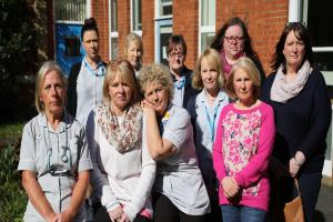 Members of the Bournemouth Intermediate Care Services team based at Kings Park Hospital. Ten of the thirteen people who are at risk of redundancy