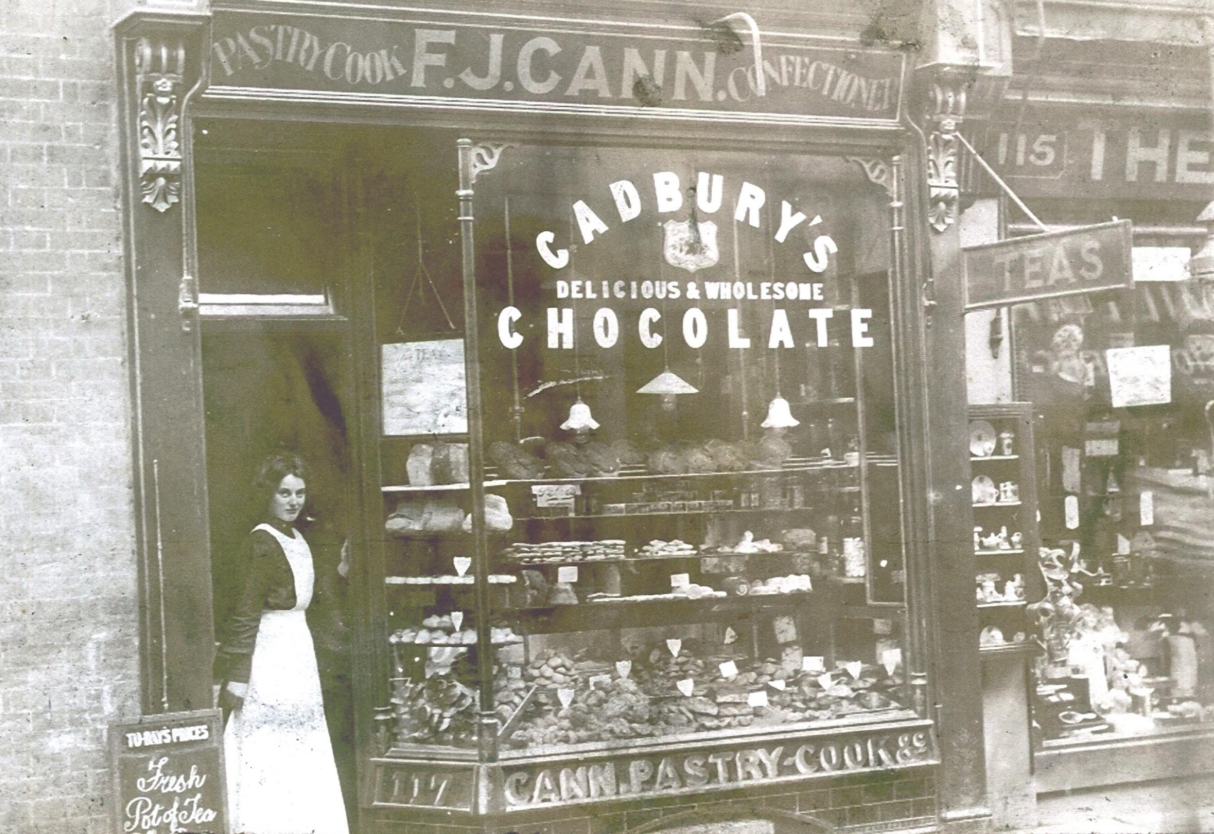 F J Cann cake and confectioner's shop at 117 Poole High Street, brought in by Gordon Cann, the grandson of Mr.F. J. Cann