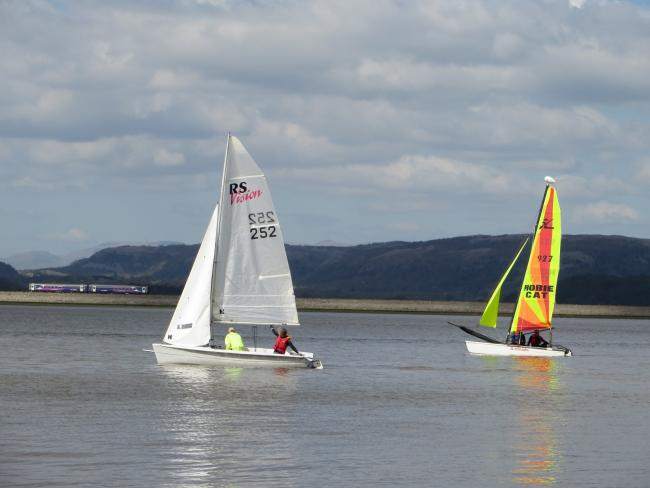 WE ARE SAILING: Sailors enjoying calm waters