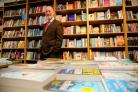 Malcolm Angel of Gullivers Bookshop in Wimborne. .Malcolm organises the Wimborne Literary Festival..