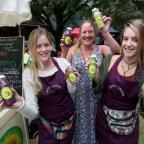 Bournemouth Echo: Heidi Green, left, with her new company Sweet Greens selling smoothies in 2014