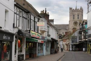 Christchurch town centre resident Joseph Scott is unhappy about the level of antisocial behaviour in the Wick Lane and Church Street areas of the town. Church Street leading to Christchurch Priory.