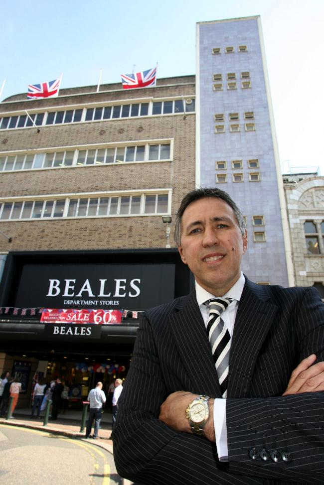 Tony Brown outside Beales