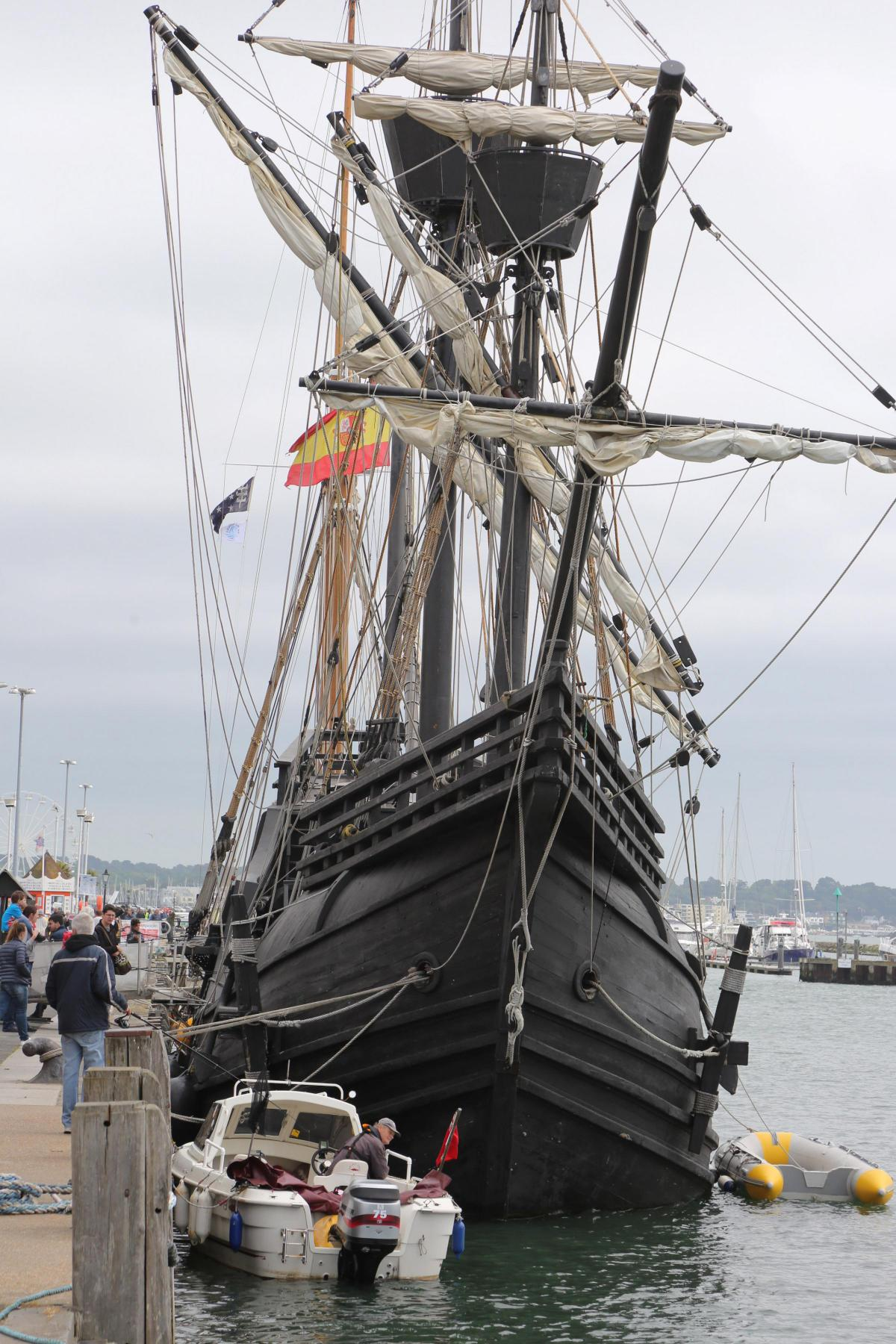 replica of first ship to circumnavigate the world opens in poole