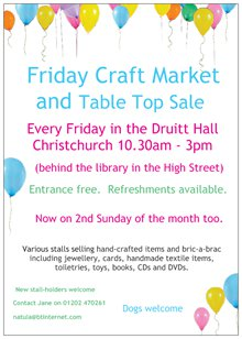 Friday market and table top sale
