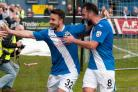STILL GOT IT: Matt Tubbs celebrates scoring for Eastleigh, where he finished last season