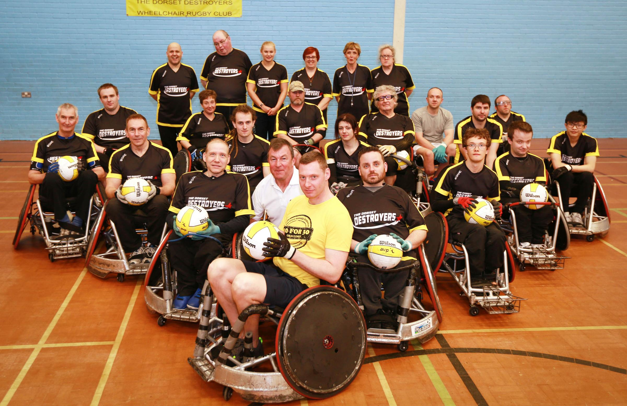 READY FOR ACTION: Nick Coombs with the Dorset Destroyers wheelchair rugby club