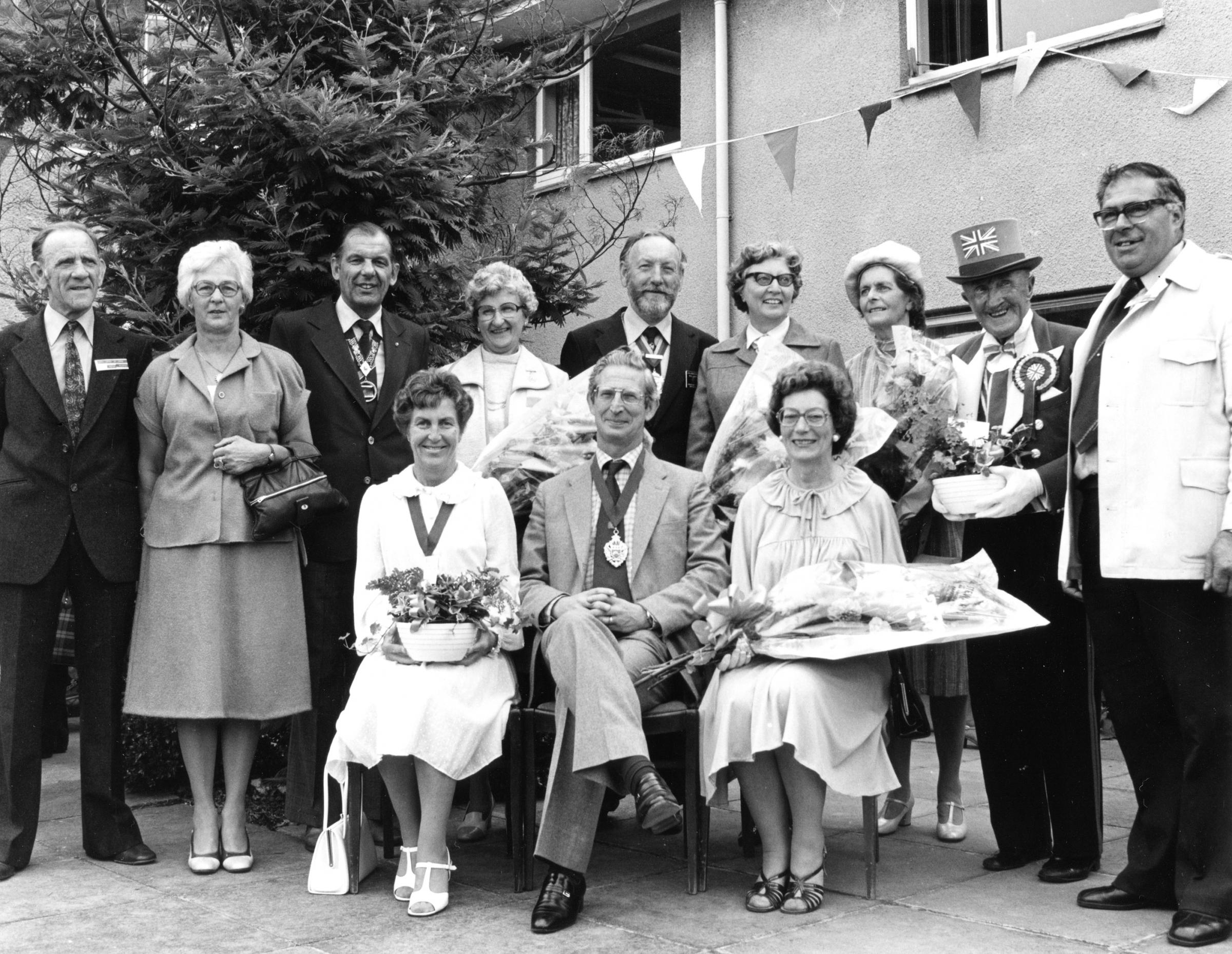Michael Rose photograph taken at the grand fete of the old people's home Dorset House, Hamworthy, Poole, in 1979