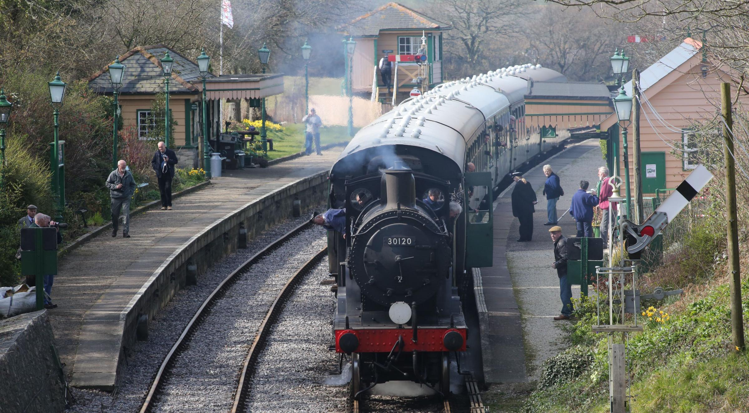 OUT OF STEAM: Diesel trains are running on the Swanage Railway after two steam locomotives collided