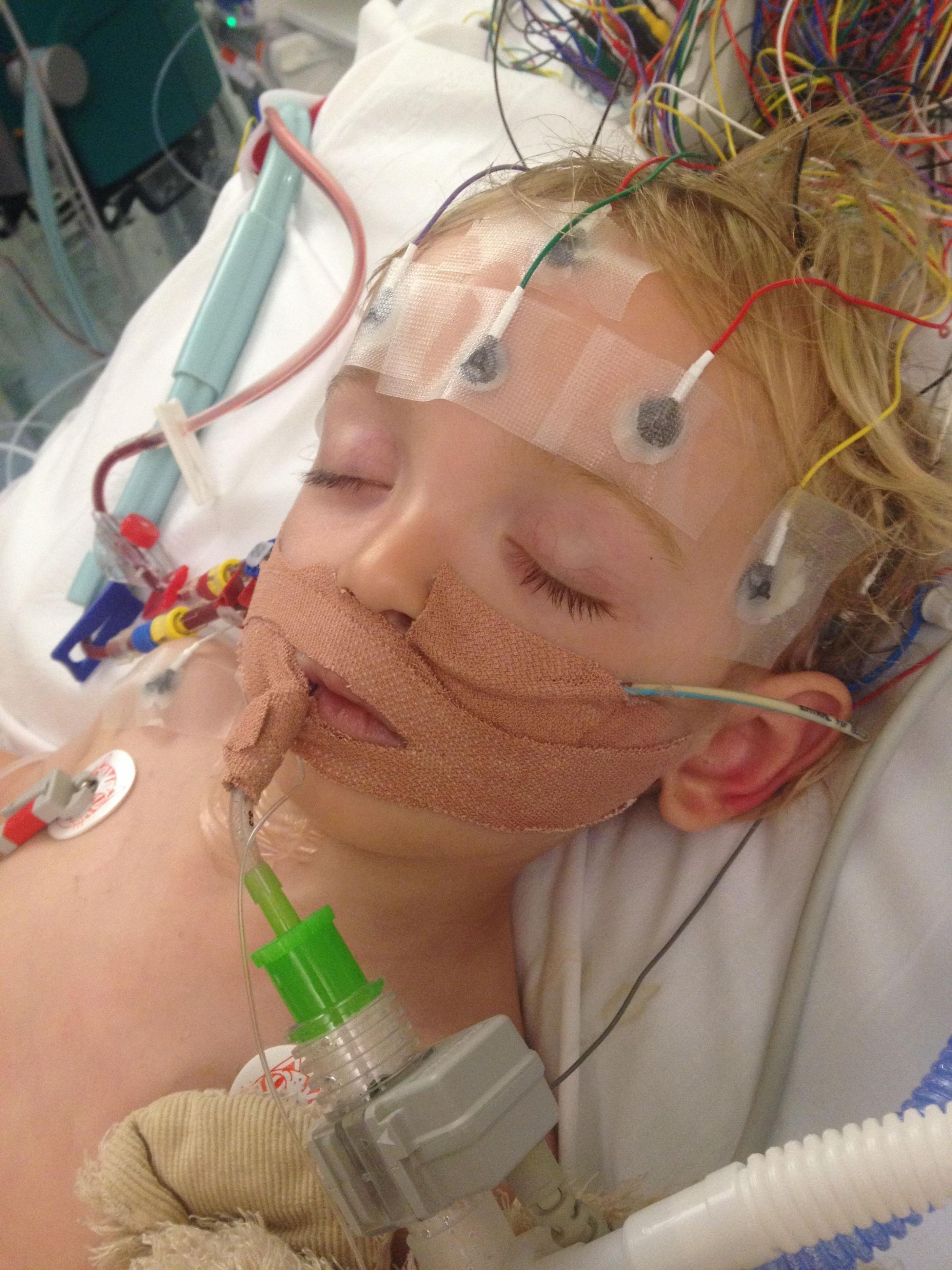 Freddy Osborne, who was just 21 months old when he contracted E coli and was critically ill...