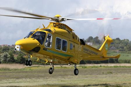 The Dorset and Somerset Air Ambulance. Image courtesy of the air ambulance