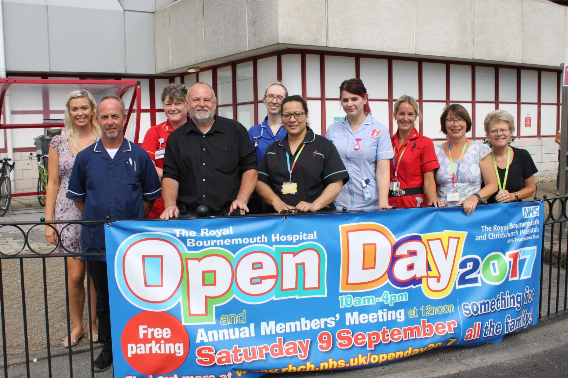 Royal Bournemouth Hospital staff invite the public to the annual open day