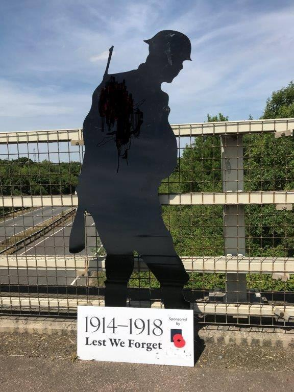 afa904a0756f5 The Silent Soldier silhouettes coming to buildings, fields and roundabouts  across Dorset