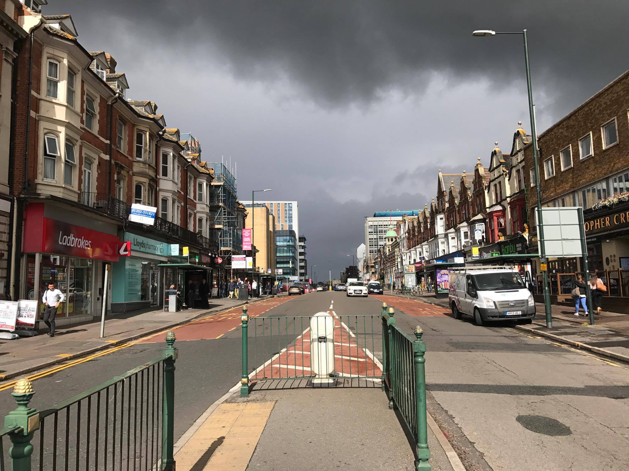 Holdenhurst Road in Bournemouth. Image by Aakash Bhatia