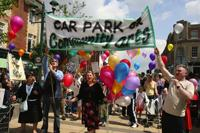 SAVE OUR CENTRE: Supporters of the Bournemouth Centre for Community Arts protest march through Boscombe over the proposed demolition of the building<p>Picture: Hattie Miiles