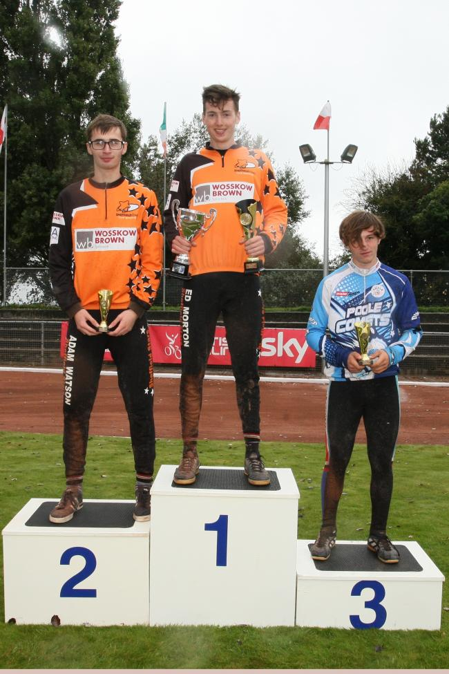 PODIUM PLACES: Ed Morton, Adam Watson and Poole's Ben Tinsdale (Picture: Graham Robins)