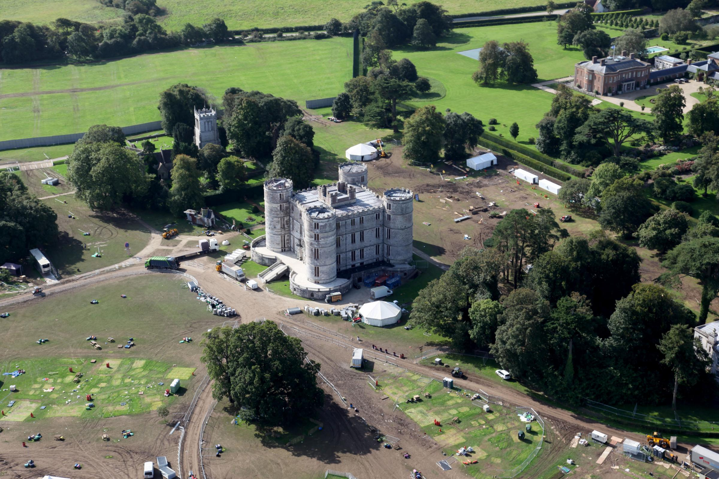 The Lulworth Castle site following the Bestival festival..