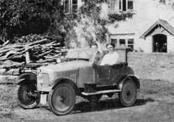 RURAL MOTORING: A Palmerston car, manufactured in Bournemouth,  seen at Zeal farm, Shillingstone, with Ann Goddard and son Frederic