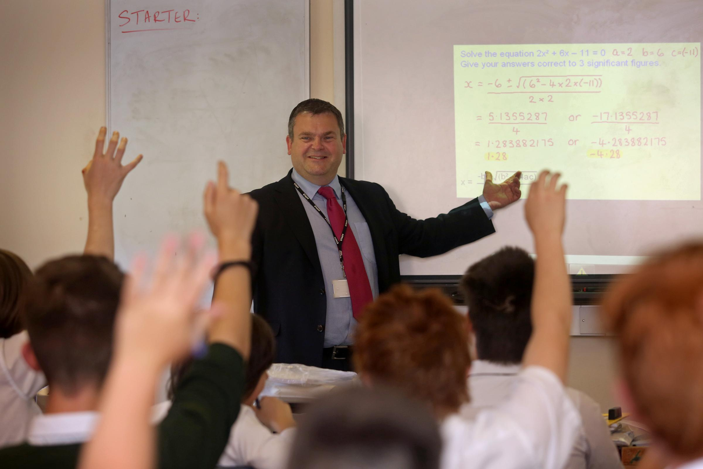 SKILLS: Poole Grammar maths teacher Andy Oldman