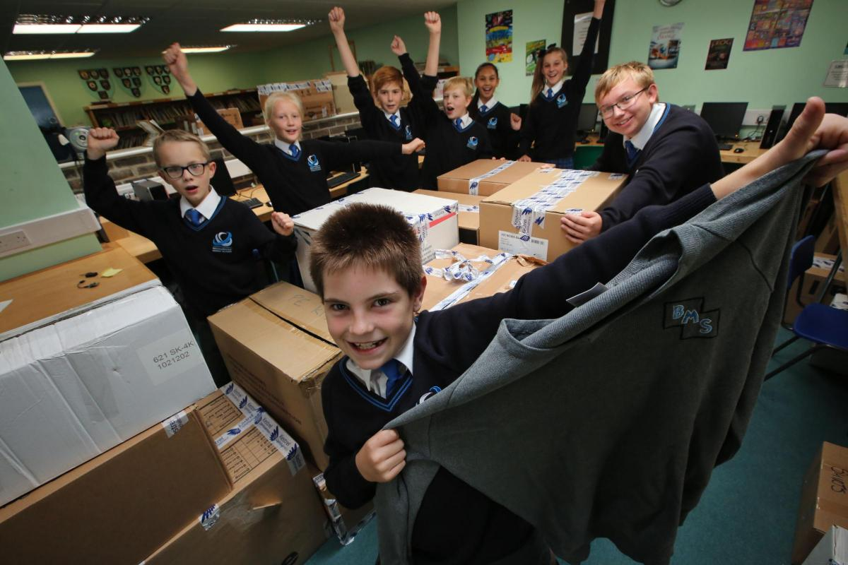 School's old uniforms packed up for African aid convoy