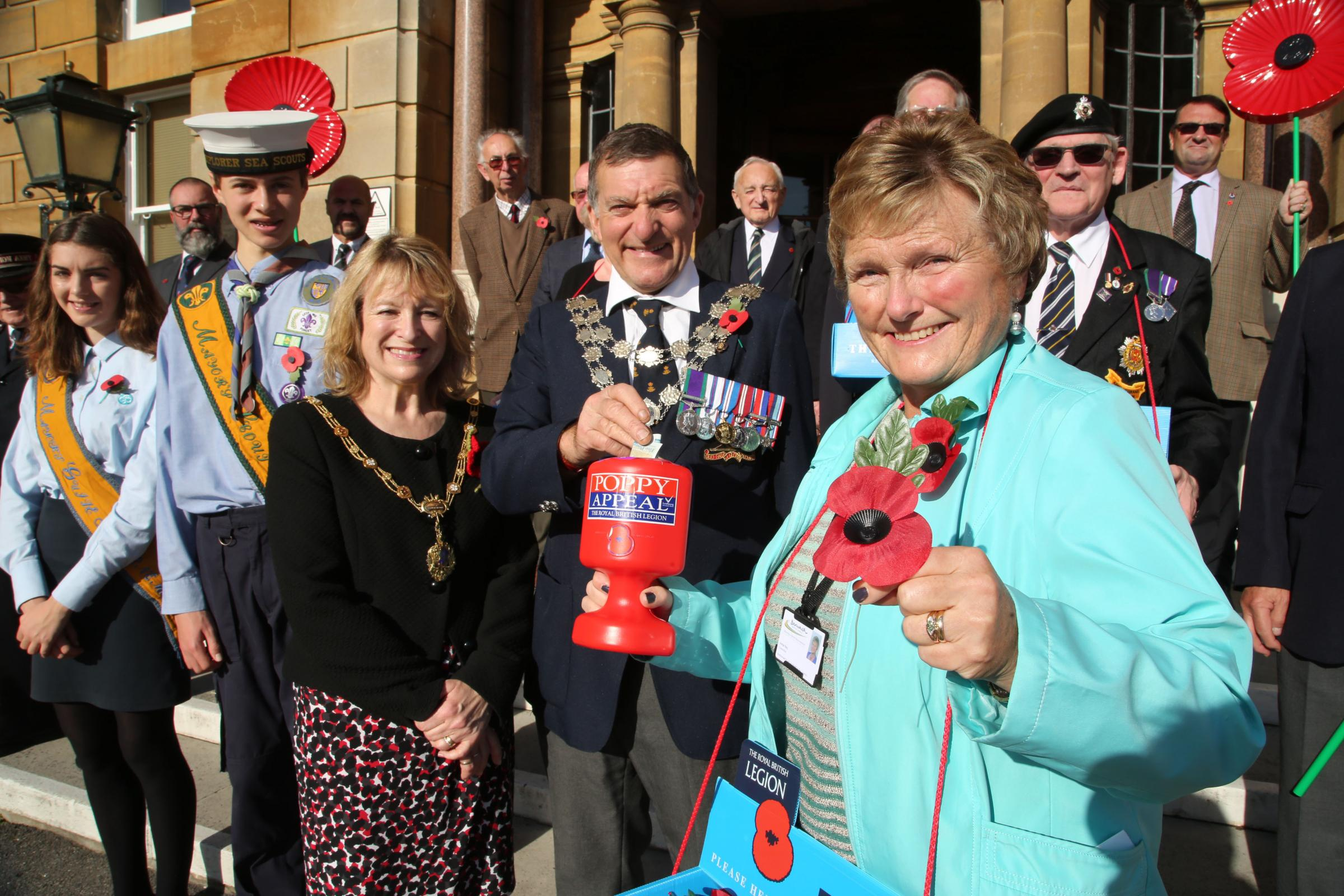 Cllr Anne Rey, who retired in November, at the launch of the 2016 Poppy Appeal in Bournemouth