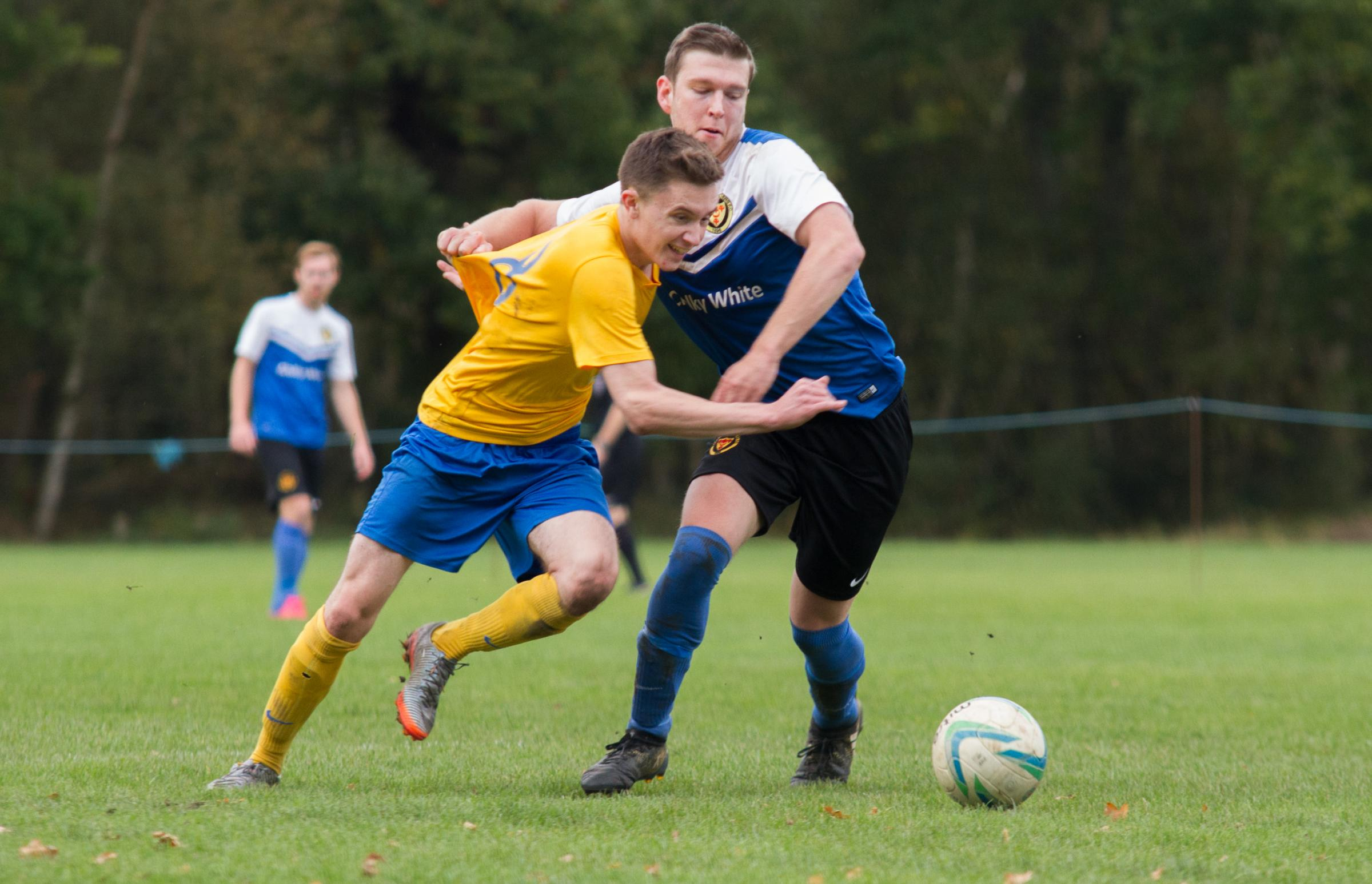 AT THE DOUBLE: Jack Voisey scored twice for Parley in their comfortable win against Sherborne Town reserves (Picture: Steve Harris)