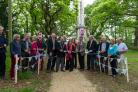 Burrard Neale monument in Walhampton, Lymington. Celebrations to mark completion of first phase of project honouring naval hero Sir Harry Burrard Neale