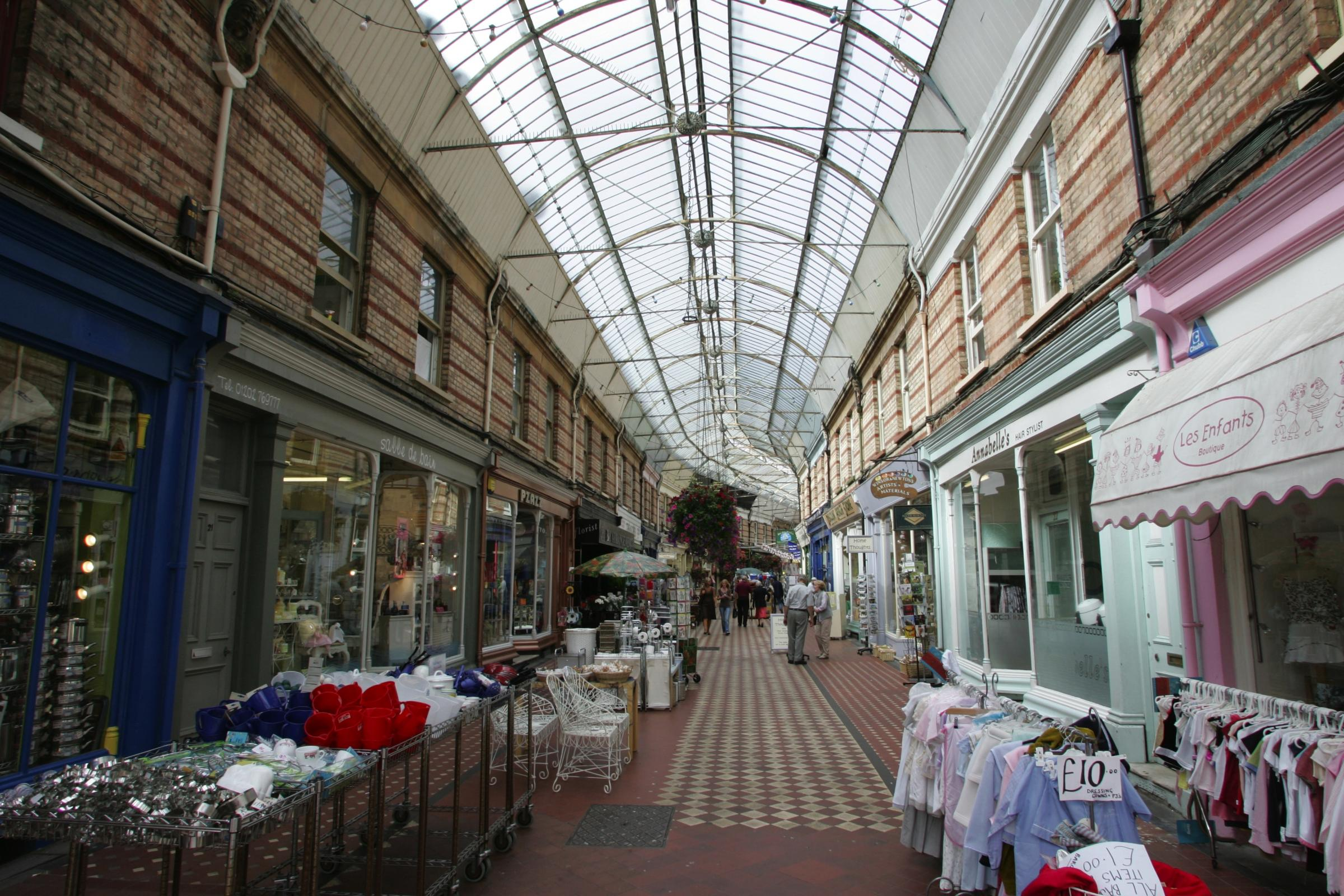 Small businesses in Westbourne Arcade could be among those to benefit from business rates relief
