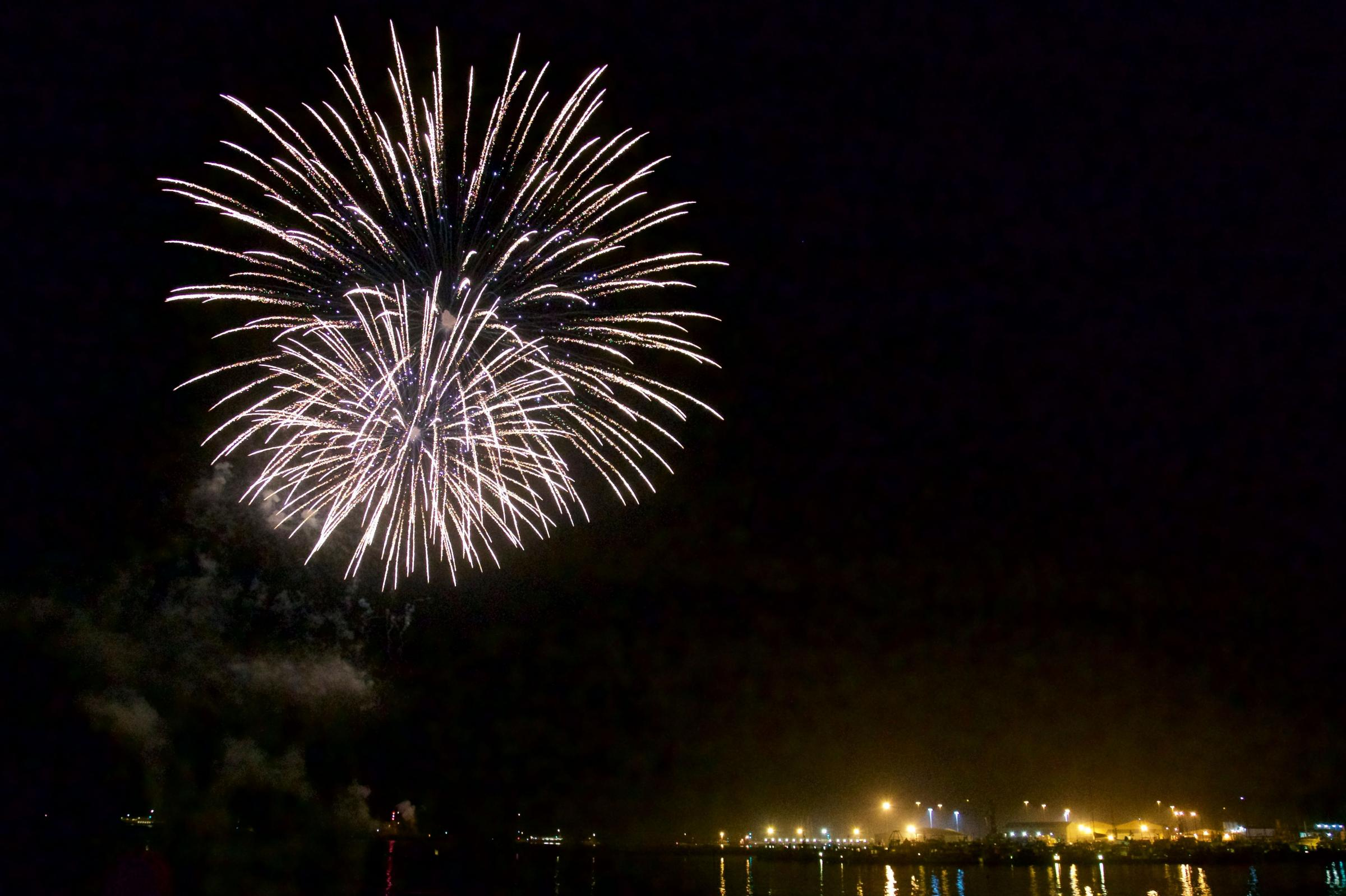 Firework display on Poole Quay for Bonfire Night