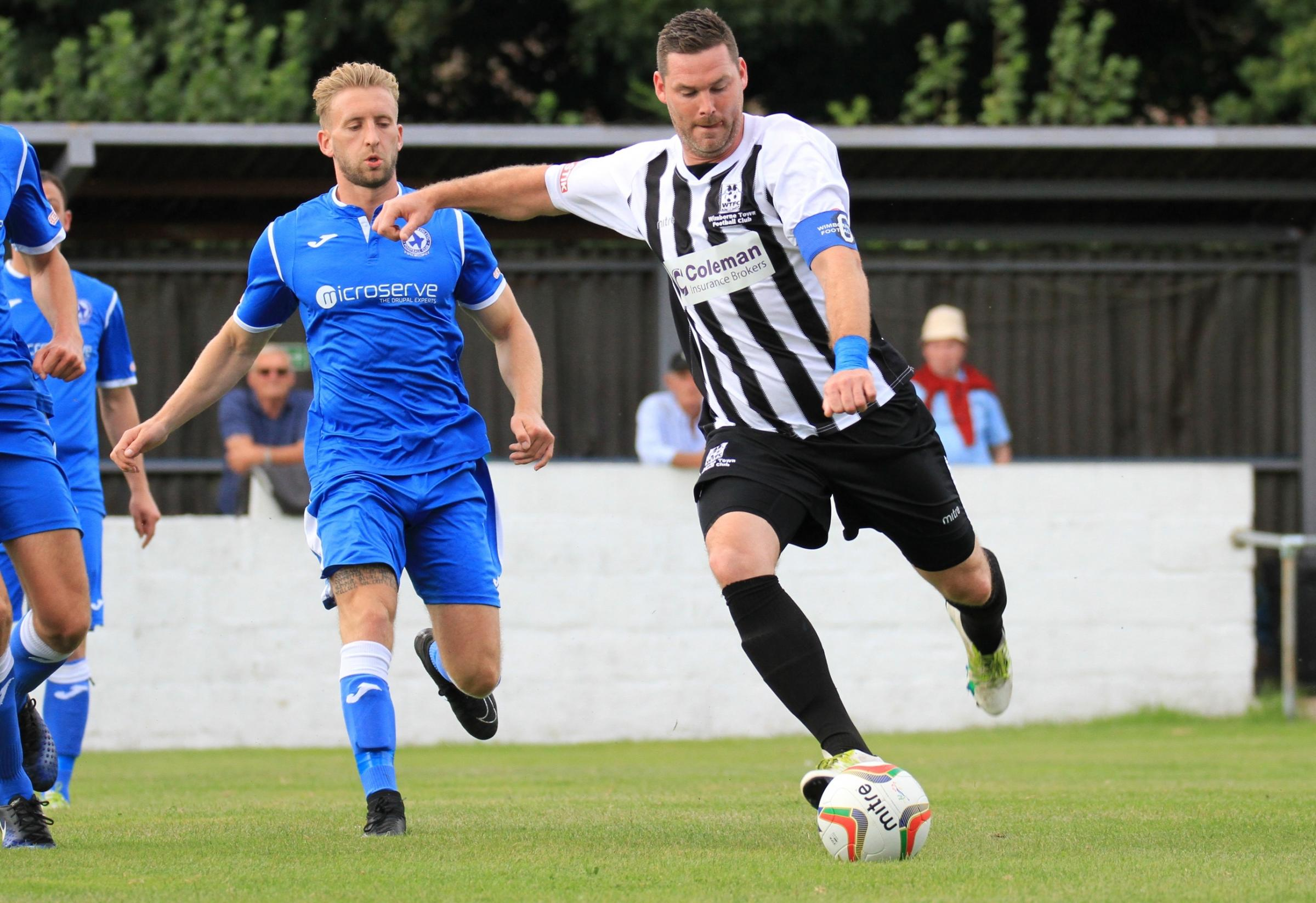 TON-UP: Wimborne Town's James Stokoe scored his 100th goal for the club this week (Picture: Steve Harris)