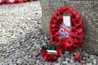A wreath at Christchurch Memorial Stone