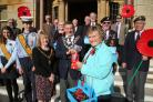 Cllr Anne Rey at the recent launch of the Poppy Appeal, whose town centre efforts she has organised for many years