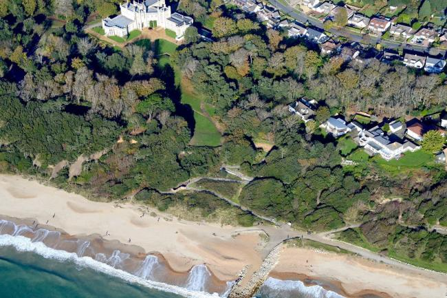 Highcliffe Castle and zig zag from above by Stephen Bath