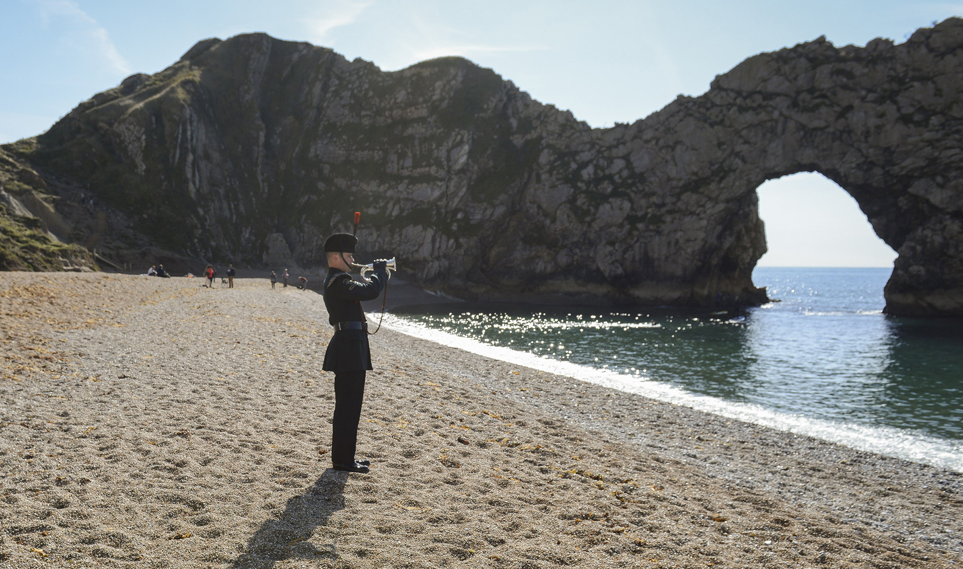 WATCH Lone bugler plays Last Post at Durdle Door in poignant Remembrance Day video & WATCH: Lone bugler plays Last Post at Durdle Door in poignant ...
