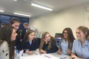 LEARNING FAST: Pupils from Bournemouth School for Girls take part in BIMA's Digital Day with visitors from Redweb