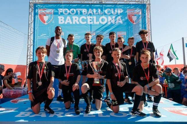 REIGN IN SPAIN: Poole-based Champion Sports under-15s won the Football Cup Barcelona