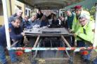 Staff and volunteers at Cherry Tree Nursery who were saddened to discover that thieves had broken in overnight and stolen 27 battery cells from two former milk floats which are used to move plants around the charty site. ..