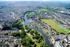 The River Stour, which is the boundary between the boroughs of Bournemouth and Christchurch. Picture: Stephen Bath